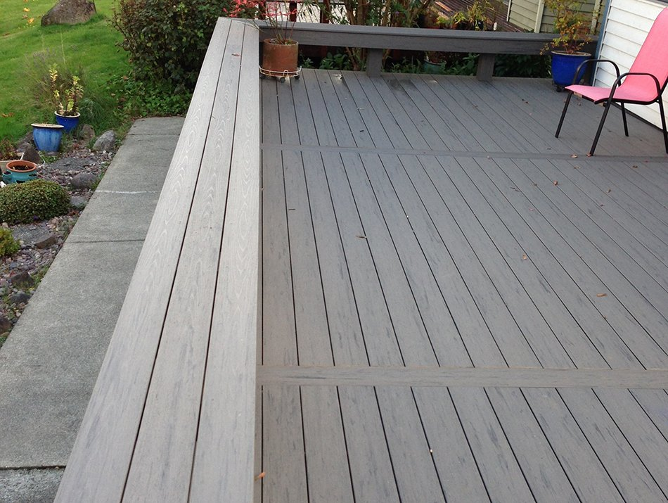Composite deck bench in Seattle
