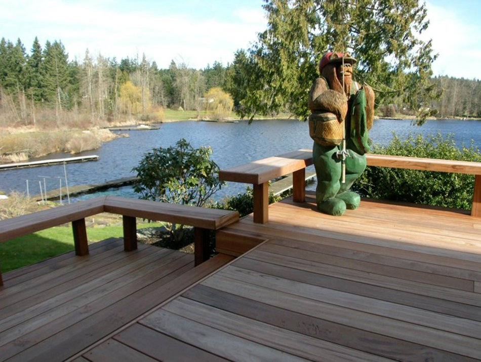 hardwood decking and benches by master decks, llc