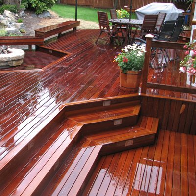 Master Decks of Seattle builds custom hardwood decking projects.