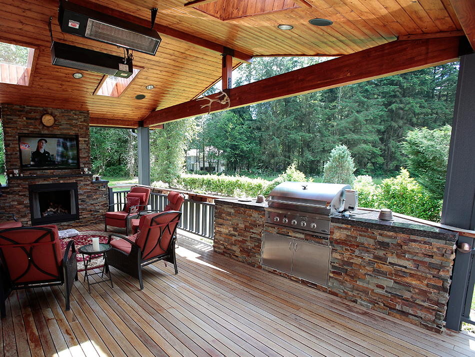 Outdoor Kitchens And Fireplaces Masterdecks Llc